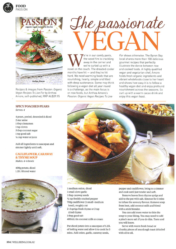 Anthea-Amore_PASSION-organic-vegan-recipes-to-live-for_Wellbeing-Magazine_June-2016_P2_BleachPR